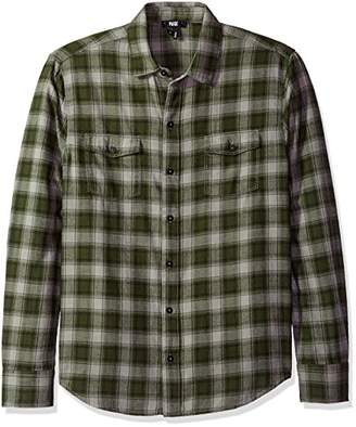 Paige Men's Everett Flannel Button Down Shirt Vander Plaid