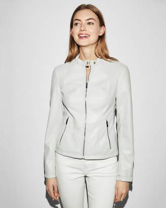 Express Double Peplum (Minus The) Leather Jacket