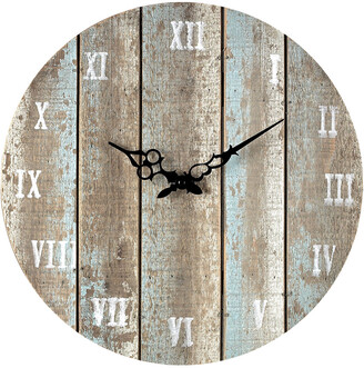 Artistic Home & Lighting Wooden Roman Numeral Outdoor Wall Clock