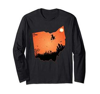 Halloween Ohio OH State Design Long Sleeve Shirt Gift for