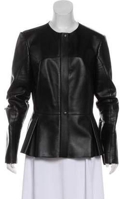 Fendi Zip-Up Leather Jacket