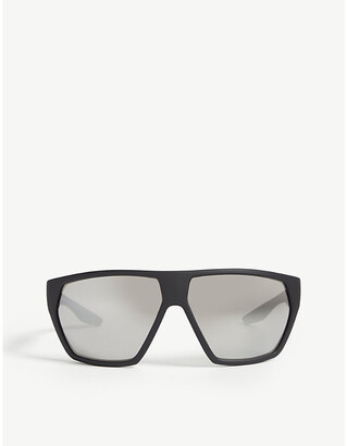 Prada Linea Rossa PS 08US Linea Rossa wrap-around acetate sunglasses