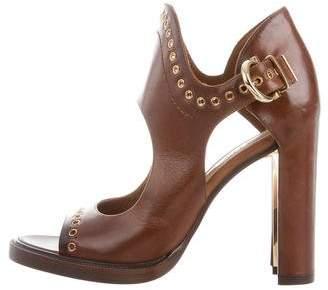 Salvatore Ferragamo Leather Cutout Sandals
