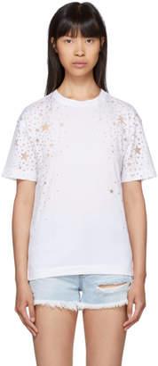 Stella McCartney White Cut-Out Stars T-Shirt