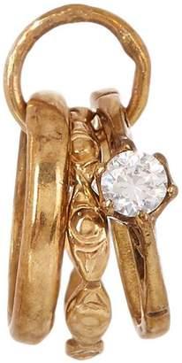 Annina Vogel Vintage Gold Three Rings Diamond Charm