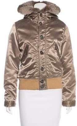 Diesel Fur-Trimmed Hooded Jacket
