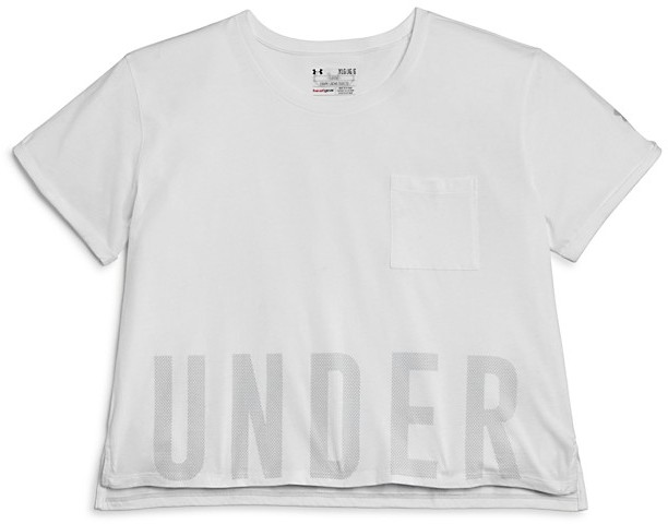 Under Armour Girls' Cropped Performance Tee - Little Kid, Big Kid