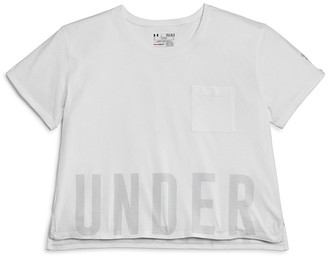 Under Armour Girls' Cropped Performance Tee - Little Kid, Big Kid $29.99 thestylecure.com