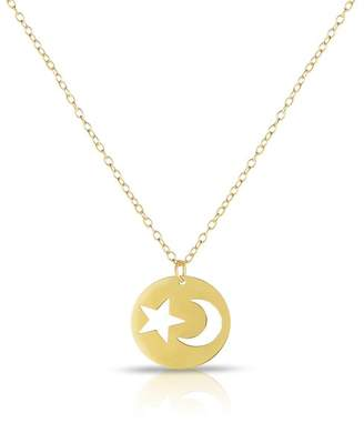 Sphera Milano 14K Yellow Gold Cutout Moon & Star Pendant Necklace