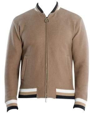 Eleventy Boiled Wool Bomber Jacket