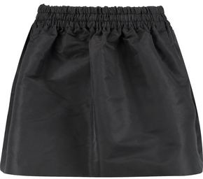 RED Valentino Flared Gathered Faille Mini Skirt