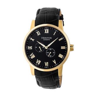 Heritor Unisex Black Strap Watch-Herhr6405