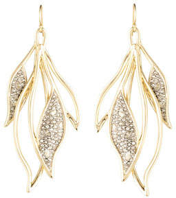 Alexis Bittar Crystal Encrusted Feather Wire Earrings