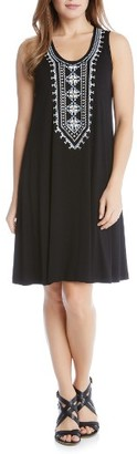 Women's Karen Kane Embroidered Jersey Tank Dress $125 thestylecure.com