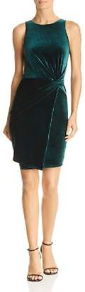 Aqua Twist-Front Velvet Dress - 100% Exclusive