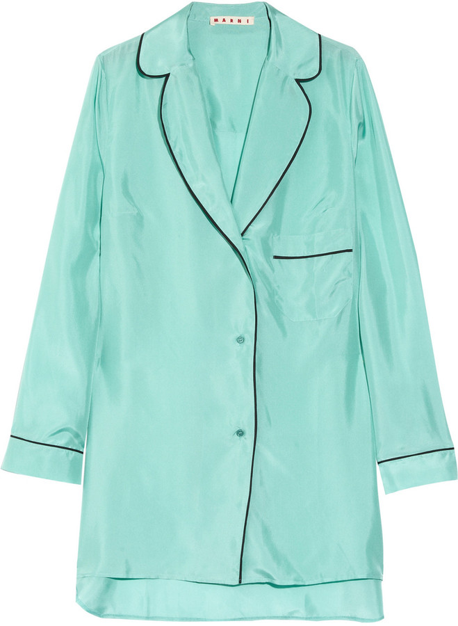 Marni Oversized silk pajama shirt