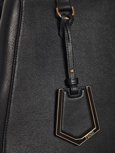 Fendi Medium 2jours Textured Leather Bag
