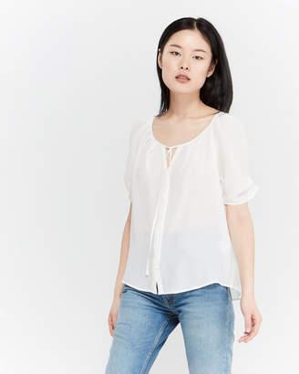 4513a122ef9b6 Joie Silk Short Sleeve Blouse - ShopStyle