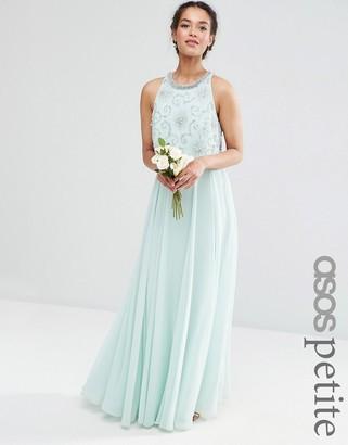 ASOS Petite ASOS PETITE WEDDING Bridesmaids Embellished Crop Top Maxi $143 thestylecure.com