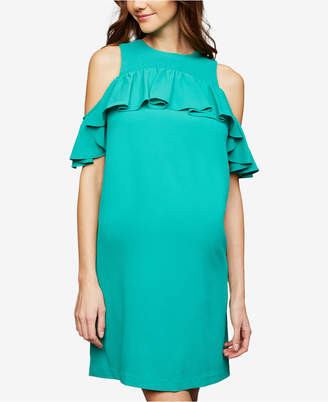 A Pea in the Pod Maternity Cold-Shoulder Dress