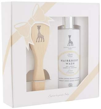Baby Essentials Sophie La Girafe Hair, Body Wash and Brush Gift Set