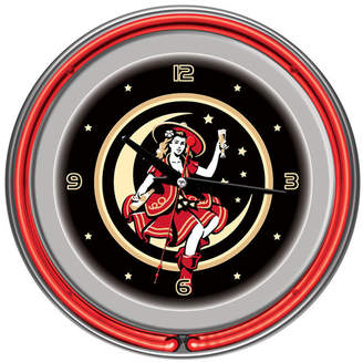 "DAY Birger et Mikkelsen Trademark Global 14"" Miller High Life Girl in the Moon Vintage Wall Clock"