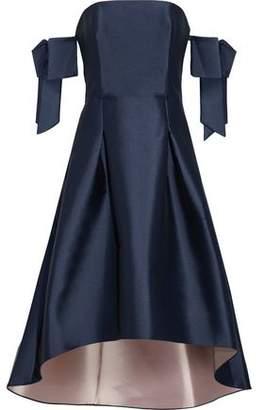 Sachin + Babi Vani Off-The-Shoulder Bow-Embellished Duchesse Satin-Twill Dress