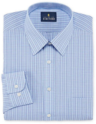 STAFFORD Stafford Travel Stretch Performance Super Shirt Mens Point Collar Long Sleeve Wrinkle Free Stretch Stain Resistant Dress Shirt - Big And Tall