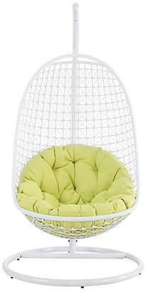 One Kings Lane Patio Swing Chair - Green