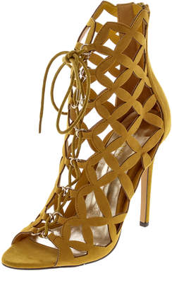 Liliana Mustard Sandal Heels