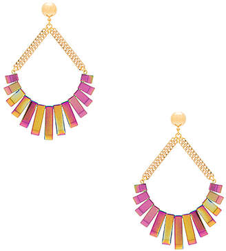 Vanessa Mooney Talulah Earrings in Metallic Gold. $51 thestylecure.com