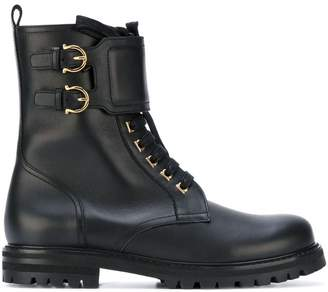 Salvatore Ferragamo biker boots