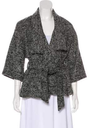 Diane von Furstenberg Long Sleeve Wool Blend Cardigan