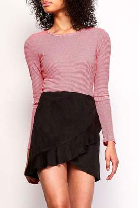 BB Dakota Black Ruffle Skirt