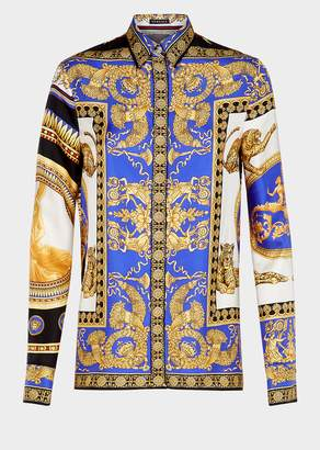 Versace Signature Pillow Talk Silk Shirt