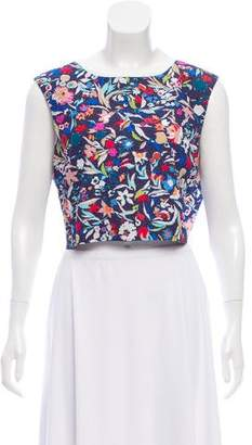 Saloni Floral Crop Top