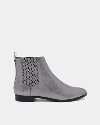 Ted Baker LIVECA2 Elastic detail flat leather boots