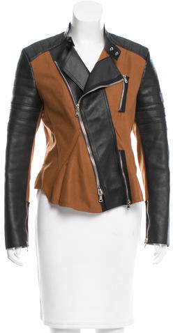 3.1 Phillip Lim3.1 Phillip Lim Leather-Accented Moto Jacket