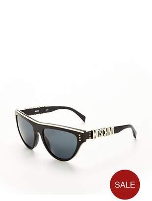 Moschino Cateye Stud Detail Sunglasses - Tortoiseshell