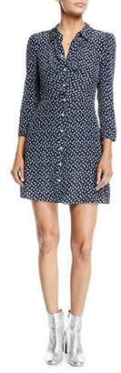 Veronica Beard Kingsley Floral Snap-Front Shirtdress