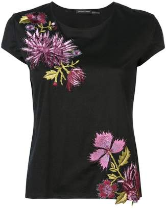 Josie Natori embroidered T-shirt