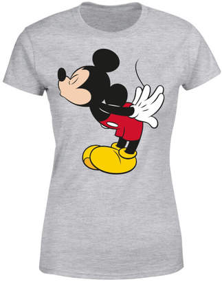 Disney Mickey Mouse Mickey Split Kiss Women's T-Shirt - Grey