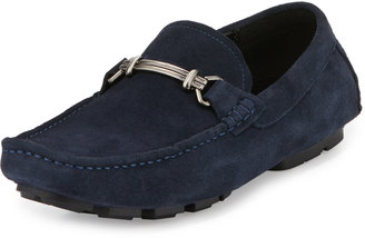 Kenneth Cole Perfect Type Horsebit Suede Loafer, Navy $129 thestylecure.com