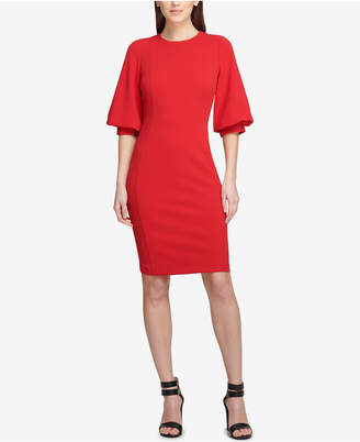 DKNY Balloon-Sleeve Sheath Dress
