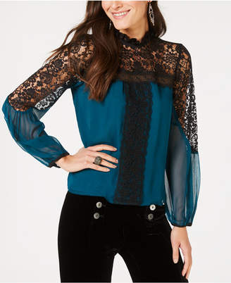 Nanette Lepore Lace-Trim Top