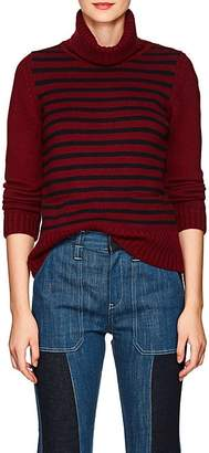 Barneys New York Women's Striped Cashmere Turtleneck Sweater