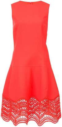 Oscar de la Renta drop-waist scalloped-hem dress