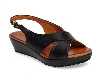 Women's Sesto Meucci Bean Slingback Wedge Sandal $149.95 thestylecure.com