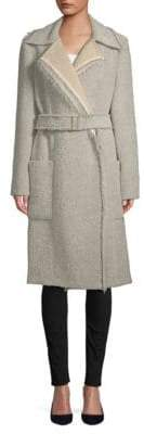 Lanvin Long-Sleeve Textured Coat