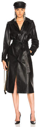 Miss Sixty Palmer Girls x Leather Trench Coat